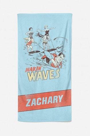 Personalised Vintage DC Beach Towel by Cusotm Gifts