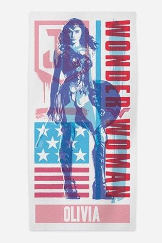 Personalised Wonder Woman™ Beach Towel by Cusotm Gifts