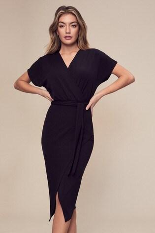 buy lipsy rib wrap midi dress from the next uk online shop