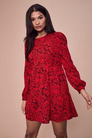 Lipsy Red Smock Dress
