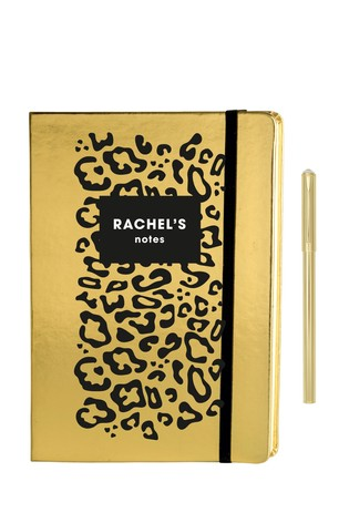 Personalised Metallic Leopard Notebook By Ice London