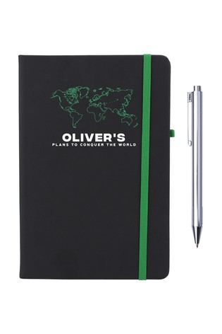 Personalised Conquer The World Notebook by Ice London