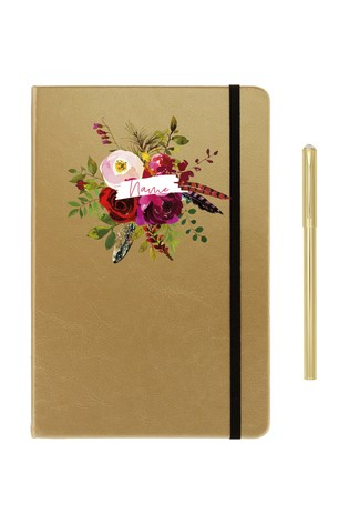 Personalised Autumn Floral Notebook With Pen By Ice London