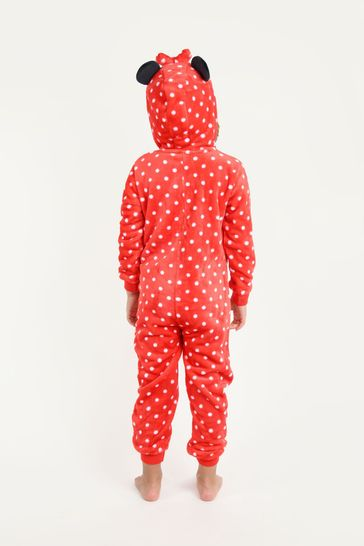 Brand Threads Red Disney - Minnie Mouse Girls Onesie