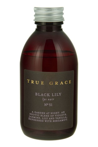 True Grace 200ml Reed Diffuser Refill Black Lily