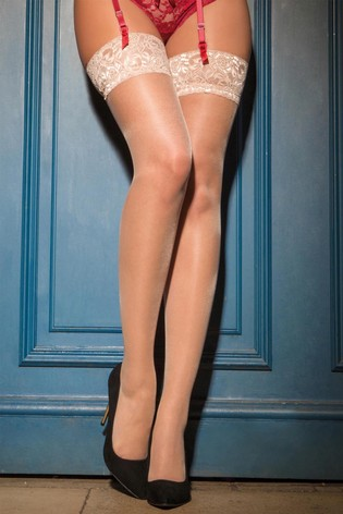 Pour Moi Neutral Allure Lace Top 15 Denier stocking