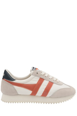 Gola White Boston '78 Lace-Up Trainers
