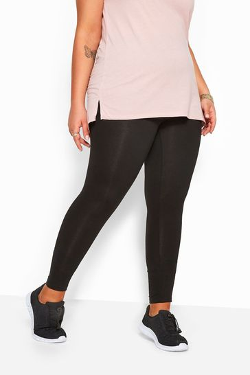 """Yours Black Curve 30"""" 2 Pack Soft Touch Leggings"""