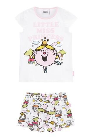 Missimo Girls Little Miss Princess Shorty PJ Set