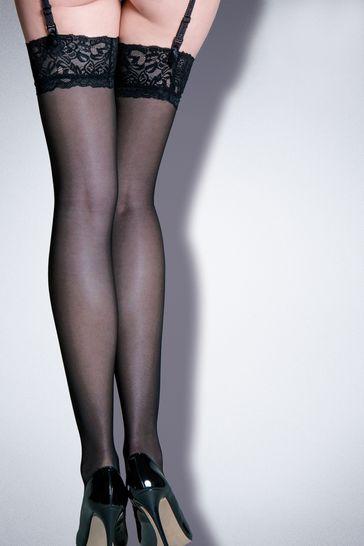 Pour Moi Black Allure - Lace Top 15 Denier Stocking