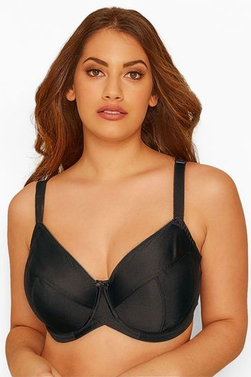 Yours Black Curve Classic Smooth Non-Padded Underwired Bra DD+