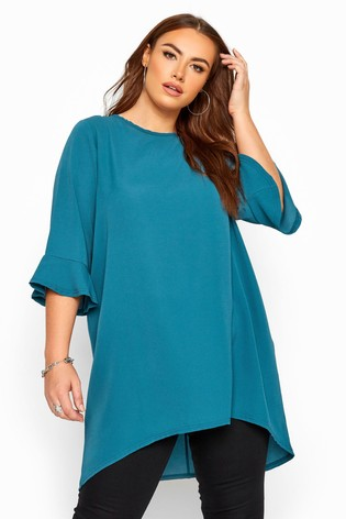 Yours Curve Flute Sleeve Tunic