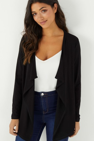 Lipsy Black Waterfall Cardigan