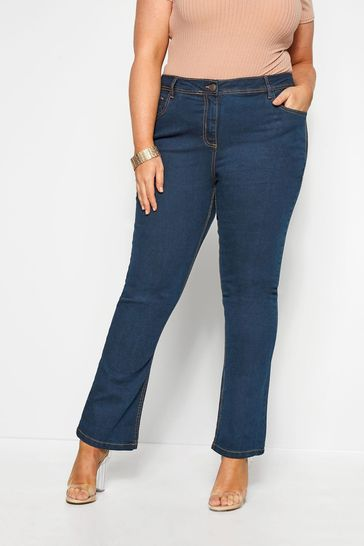 """Yours Blue Curve 28"""" Bootcut Isla Jeans"""