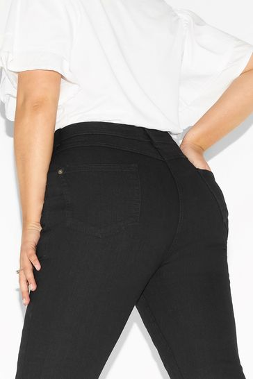 """Yours Black Curve 30"""" Bootcut Isla Jeans"""