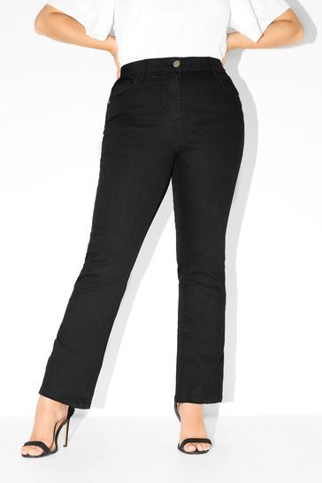 "Yours Black Curve 28"" Bootcut Isla Jeans"