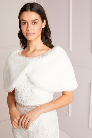Lipsy Faux Fur Bridal Shrug
