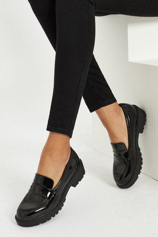 Lipsy Black Chunky Loafer