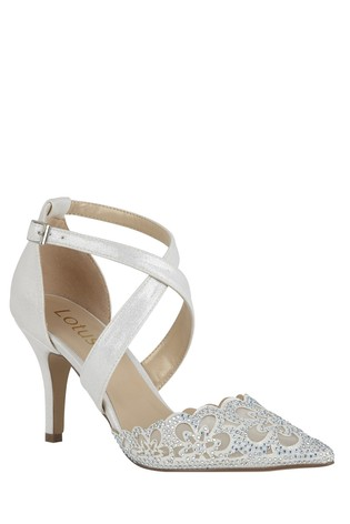 Lotus Leather Heeled Occasion Shoes