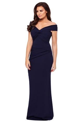 Sistaglam Loves Jessica Petite Marina Bardot Maxi Dress