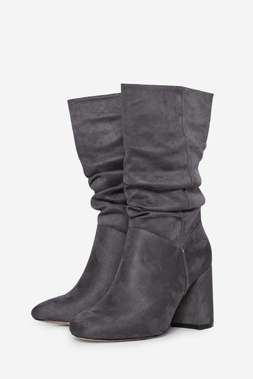Dorothy Perkins Grey Kinder Rouched Boot