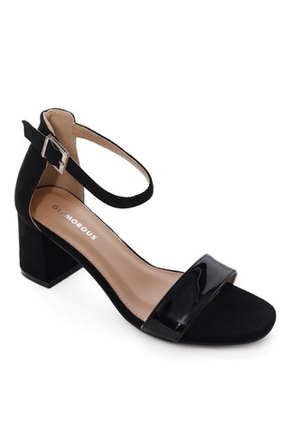 Glamorous Wide Fit Low Block Heel Court Shoes
