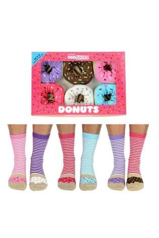 United Odd Socks Multicolored United Oddsocks Donut Socks Pack of 6