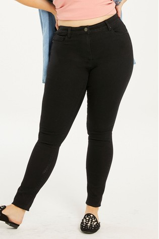Simply Be Black Lucy High Waist Super Soft Skinny Jeans