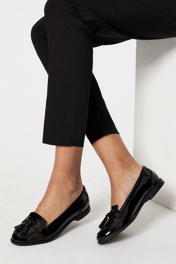 Lipsy Black Wide FIt Tassel Loafer