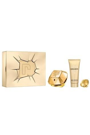 Paco Rabanne Lady Million Eau de Parfum 80ml, Body Lotion 100ml & Mini 5ml Gift Set