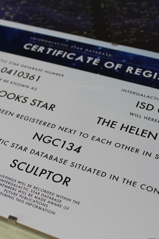 Personalised Lovers Name A Star By Great Gifts