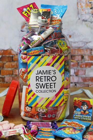 Personalised Retro Sweet Jar - Large By Great Gifts