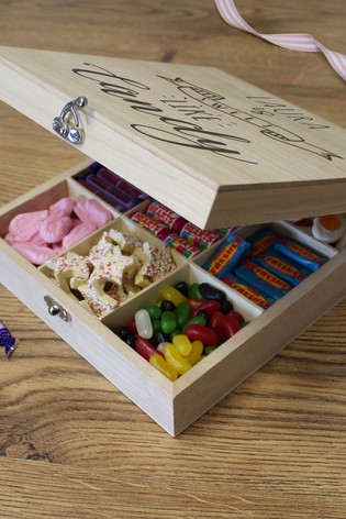 Personalised Wooden Sweet Box - Sweet Like Candy By Great Gifts