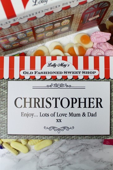 Personalised Old Fashioned Sweet Shop Box By Great Gifts