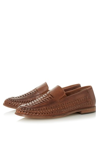 Bertie Leather Woven Loafers
