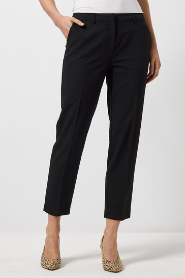 Dorothy Perkins Black Ankle Grazer Trousers