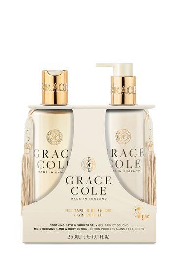 Grace Cole Nectarine Blossom & Grapefruit 300ml Body Care Duo