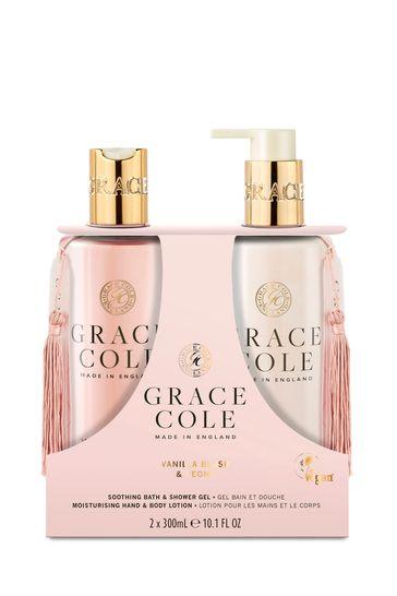 Grace Cole Vanilla Blush & Peony Body Care Duo Set 2x300ml