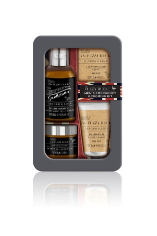 Baylis & Harding Fuzzy Duck Men's  Ginger And Lime Emergency Beard Kit