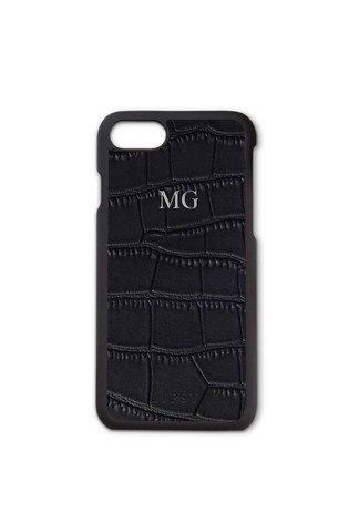 Personalised Lipsy Black Mock Croc Phone Case By Koko Blossom