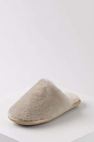 Just Sheepskin Cloud with Beige Ladies Wooly Sheepskin Slippers