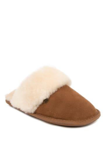 Just Sheepskin Tan Ladies Duchess Sheepskin Slippers