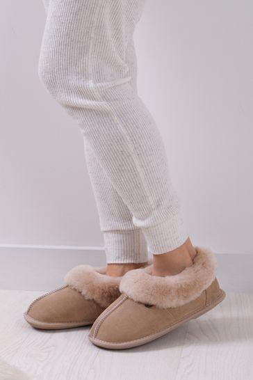Just Sheepskin Cream Ladies Classic Sheepskin Slippers