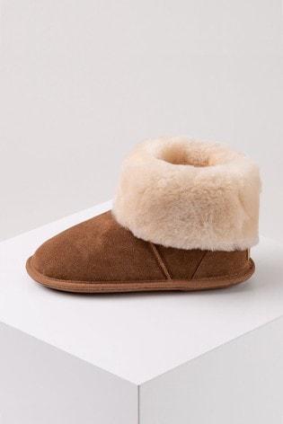 Just Sheepskin Caramel Ladies Albery Sheepskin Slippers