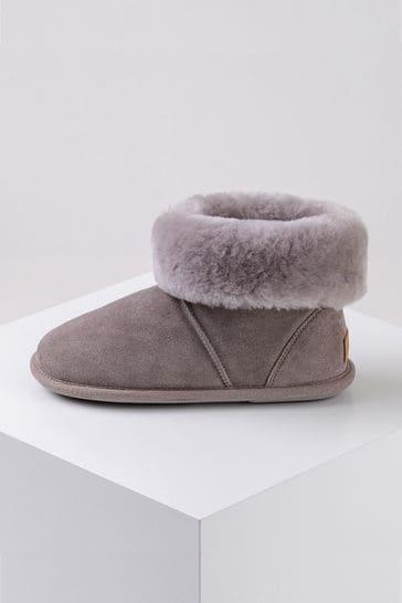 Just Sheepskin Purple Ladies Albery Sheepskin Slippers