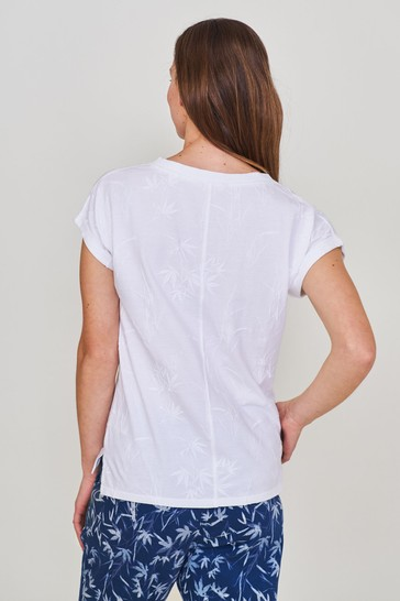 White Stuff White Nelly Notch Embroidered T-Shirt