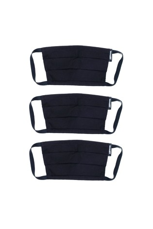 Hype. Adults Black Panelled Face Covering Three Pack Set