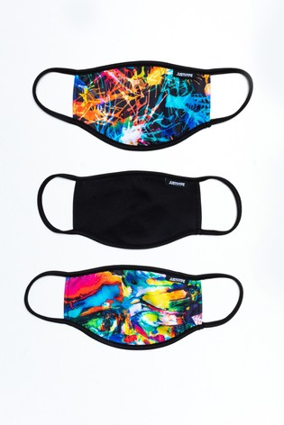 Hype. Adults Multi Explosion Face Covering Three Pack Set