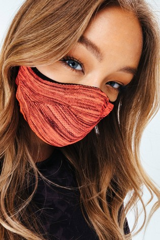 Hype. Adults Pink/Black Melange Knit Face Coverings Two Pack