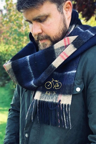 Personalised Checked Hobby Scarf by Solesmith